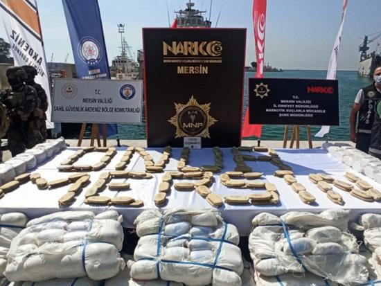 الداخلية التركية تكشف تفاصيل عملية ضبط كمية هائلة من المخدرات قبالة السواحل السورية